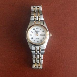 Seiko gold & silver tone solar watch